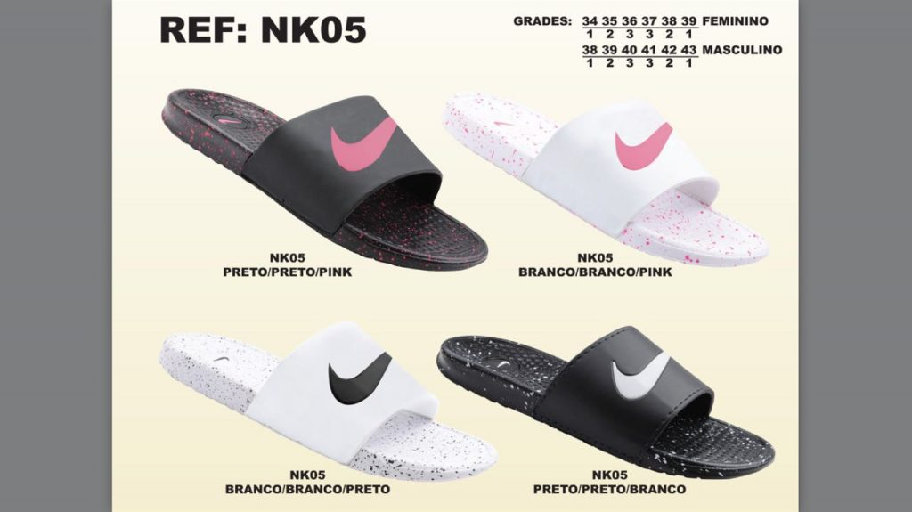 Grade Fechada 12 Pares – Chinelo Nike Pintado – Ref NK05