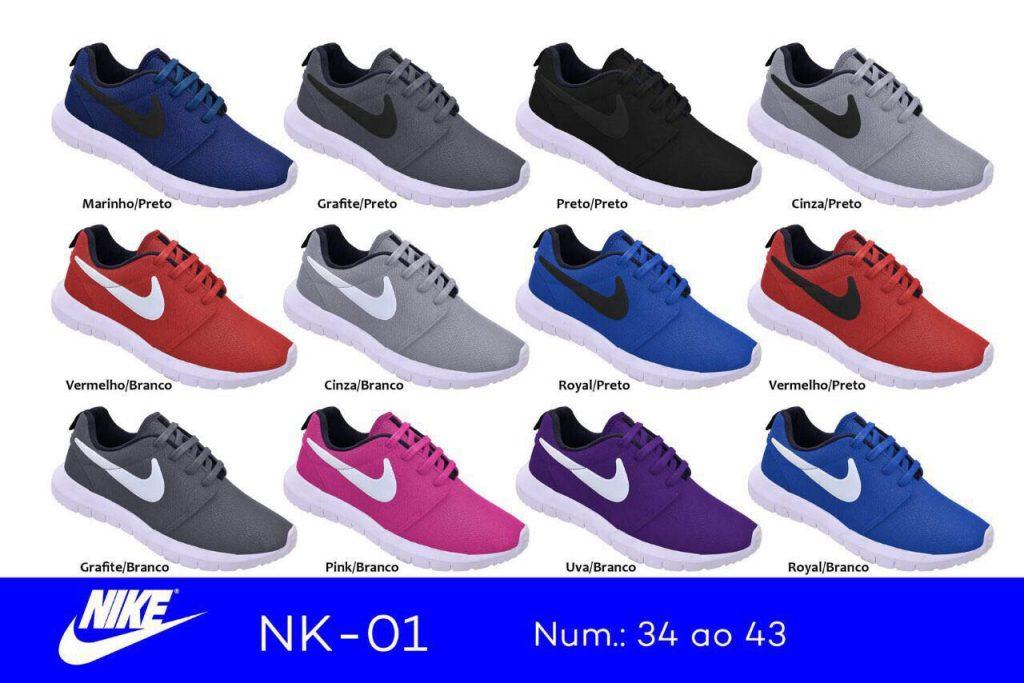 Grade Fechada 12 pares Tênis Roshe One – Ref NK01