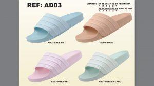Grade Fechada 12 Pares – Chinelo Adidas Slide – Ref AD03