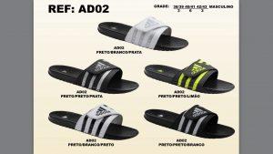 Grade Fechada 12 Pares – Chinelo Adidas c/ Fecho – Ref AD02