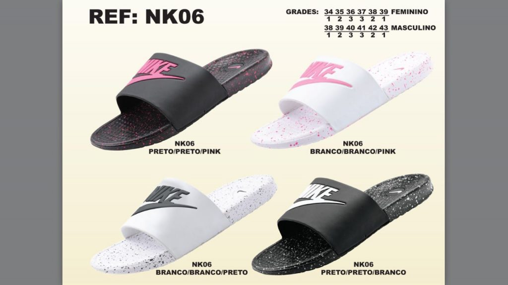 Grade Fechada 12 Pares – Chinelo Nike Pintado – Ref NK06