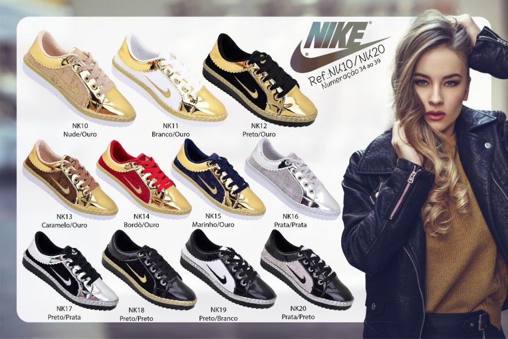 Grade Fechada 12 pares Sapatilha Nike – Ref NK10/20