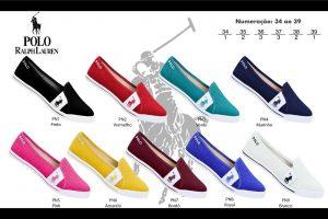 Grade Fechada 12 Pares Sapatilha Polo Ralph Lauren – Ref PN1