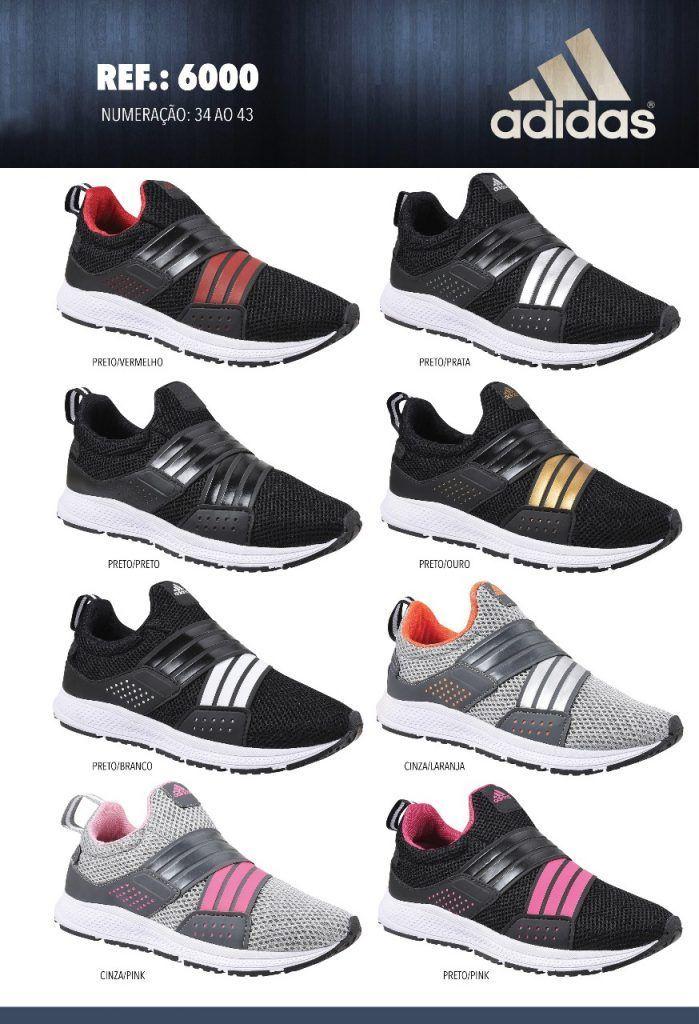 Grade Fechada 12 Pares Tênis Adidas – Ref.6000