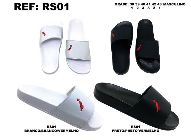 Grade Fechada 12 Pares – Chinelo Slide – Ref RS01