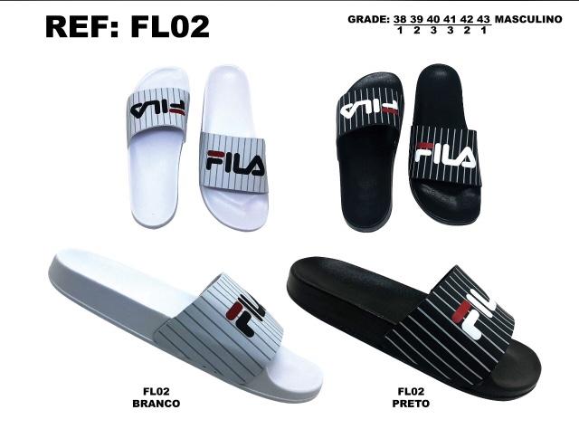 Grade Fechada 12 Pares – Chinelo Slide – Ref FL02