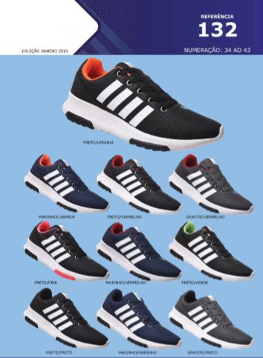 Grade Fechada 12 pares Tenis Sport – Ref : R132