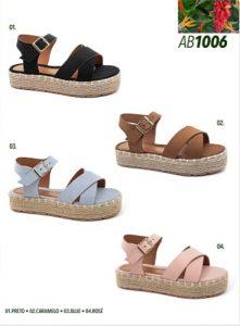 Grade fechada 12 pares sandálias – REF: AB1006