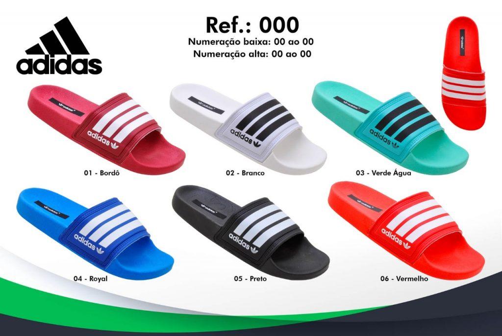 Grade Fechada 12 Pares – Chinelo Slides Adidas – Ref ALE200