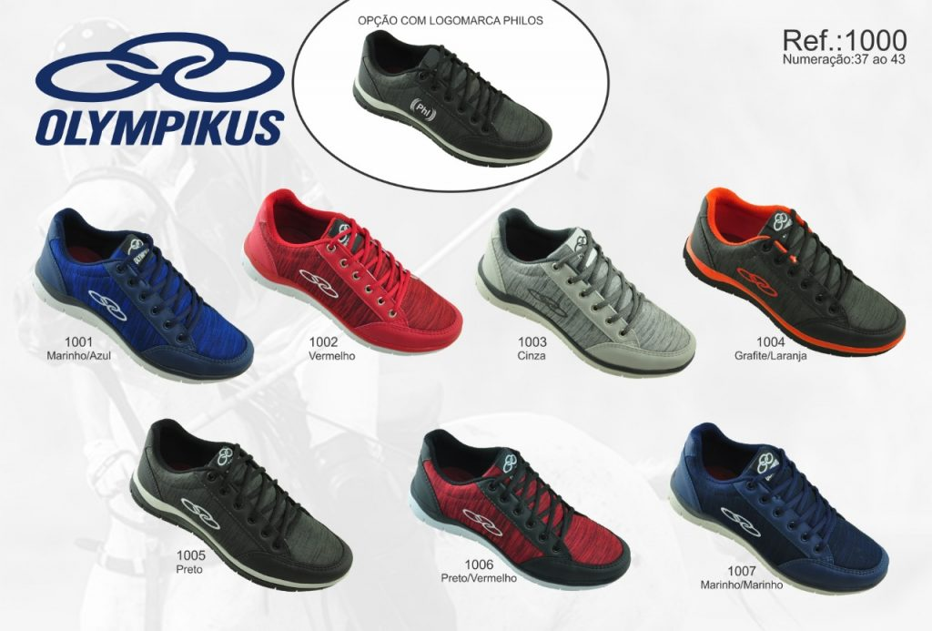 Grade Fechada 12 pares Tenis Olympikus – Ref : VA1000