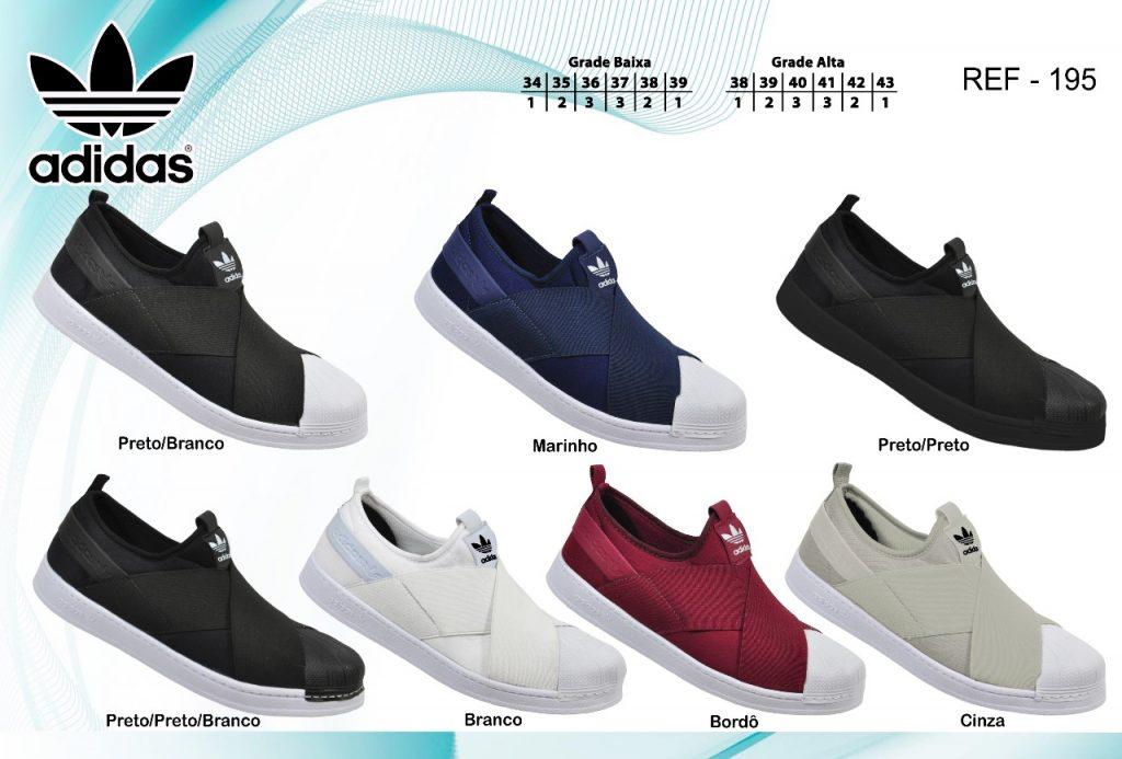 Grade Fechada 12 pares Tênis Adidas Slip on  – Ref:  Lip440